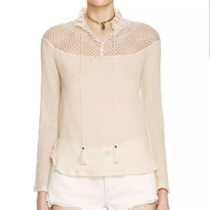 Free People On the Island Buttercup Peasant Top